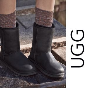 UGG Classic short leather water resistant boots